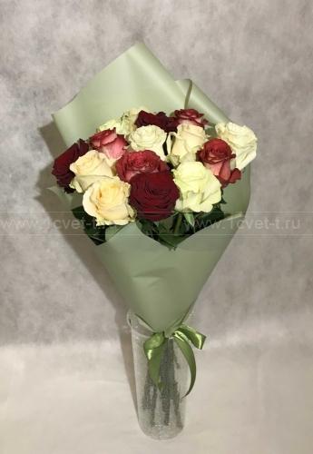 Букет из розы микс №805