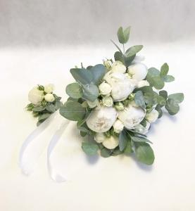 Букет невесты белый №831