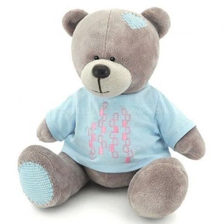 Медведь Топтыжкин светло-серый 20 см