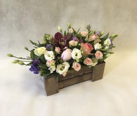 Ящичек с цветами №905