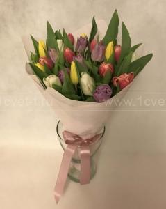Букет из разноцветных тюльпанов №815